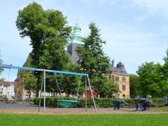 Rathausblick Vom Erlbruchpark